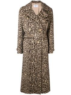 Max Mara пальто с леопардовым принтом
