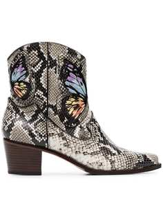 Sophia Webster multicoloured Shelby 50 snake print leather cowboy boots