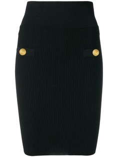 Balmain трикотажная юбка-карандаш