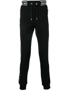 Balmain спортивные брюки с полосками и логотипом