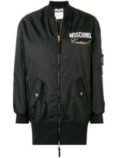Moschino куртка-бомбер с логотипом