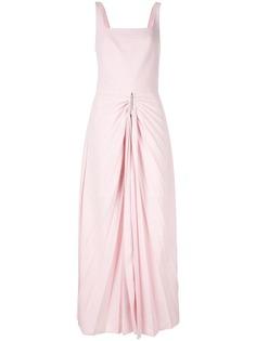 Dion Lee платье с плиссированной юбкой