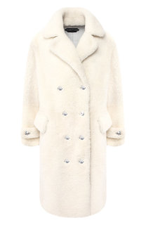 Двубортное пальто из овчины Tom Ford