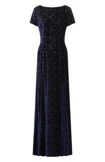 Платье-макси из смеси шелка и вискозы Escada