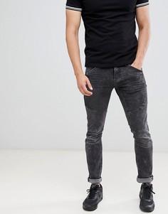 Выбеленные черные джинсы скинни в байкерском стиле Blend - Черный