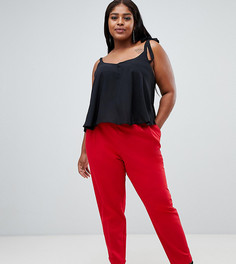 Суженные книзу брюки с завышенной талией ASOS DESIGN Curve - Красный