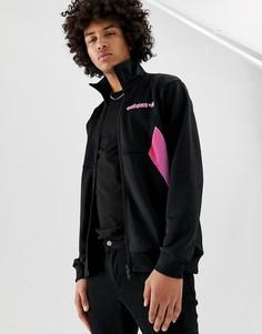 Черная спортивная куртка с принтом adidas Originals - Черный