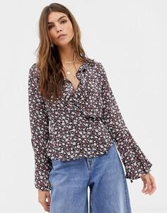 Блузка с цветочным принтом Glamorous - Черный