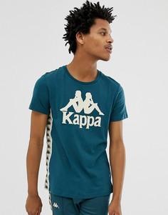 Синяя футболка с логотипом на груди Kappa - Синий