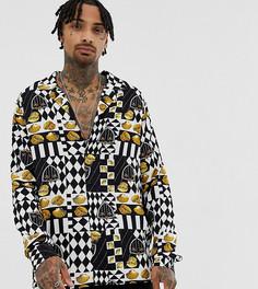 Рубашка с длинными рукавами в шахматную клетку Reclaimed Vintage - Черный