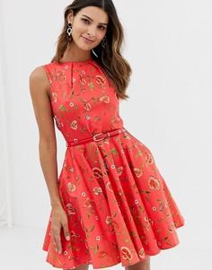Платье с поясом Closet - Мульти