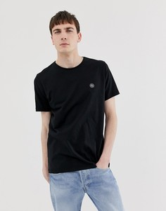 Черная футболка с логотипом на груди Pretty Green - Черный