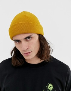 Шапка-бини горчичного цвета ASOS DESIGN - Желтый