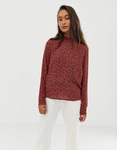 Блузка с леопардовым принтом Blend She Vera - Красный