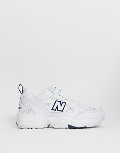 Белые кроссовки на толстой подошве New Balance 608 - Белый
