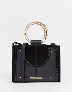Черная сумка через плечо с ручкой River Island - Черный