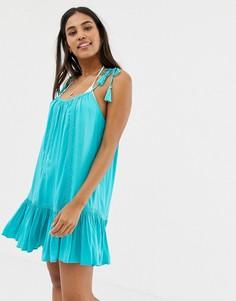 Свободное пляжное платье цвета морской волны Accesorize - Синий Accessorize