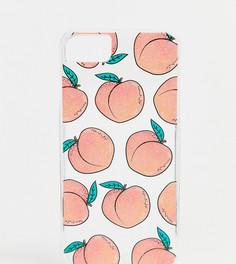 Чехол для 6/7/8/s/6 Plus/7 Plus/iPhoneX с принтом персиков Skinnydip - Оранжевый