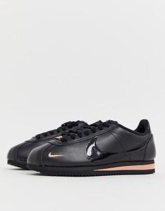 Черно-розовые кроссовки Nike Cortez - Черный