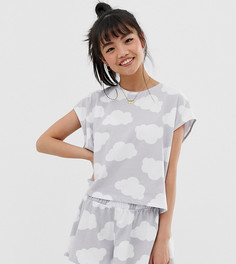 Пижамный комплект с шортами и футболкой ASOS DESIGN Petite - Мульти