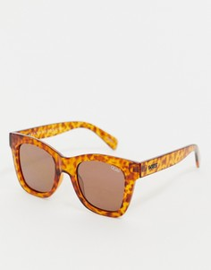 404586122fcb Черепаховые квадратные солнцезащитные очки Quay Australia After Hours -  Коричневый