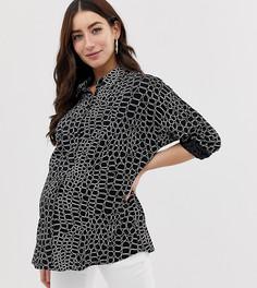 f2d1c3a7ced Рубашка с длинными рукавами и принтом под кожу крокодила ASOS DESIGN  Maternity - Мульти