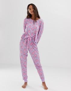 Фиолетовая пижама с принтом Chelsea Peers - Фиолетовый
