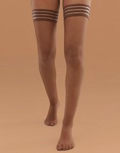 Матовые чулки среднего телесного оттенка плотностью 10 ден Nubian Skin - Бежевый