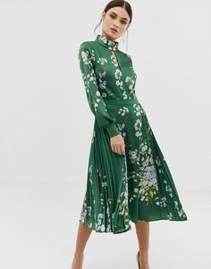 b207a6a0d019 Платье миди с принтом Jhenni и бантом Ted Baker - Зеленый