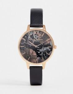 Часы с кожаным ремешком Olivia Burton OB16GD22 - Черный