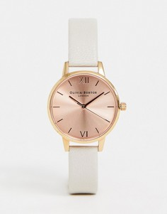 Часы с серым кожаным ремешком Olivia Burton OB14MD21 Sunray - Серый