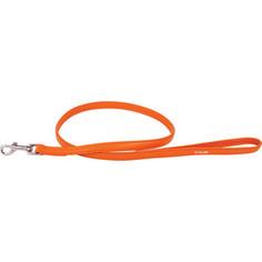 Поводок CoLLaR Glamour кожаный двойной 122см*12мм оранжевый для собак (33724)