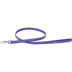 Поводок CoLLaR Glamour кожаный двойной 122см*12мм фиолетовый для собак (33729)