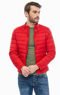 Демисезонная красная куртка на молнии Guess