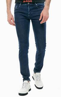 Синие джинсы скинни с карманами Sleenker Diesel
