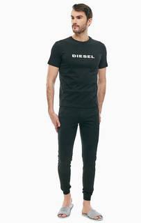 Домашний хлопковый комплект из футболки и брюк Diesel