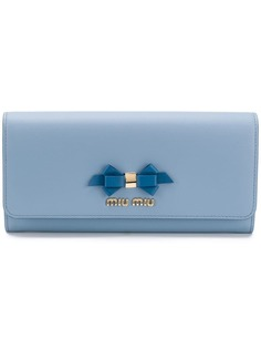Miu Miu bow detail continental wallet