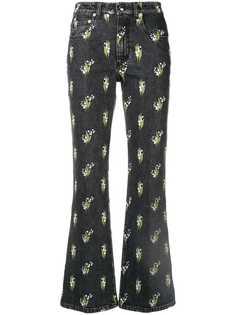 Sonia Rykiel расклешенные джинсы с цветочным принтом