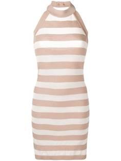 Balmain striped knit mini dress