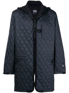 Y-3 стеганая куртка с капюшоном