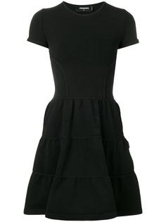 Dsquared2 короткое расклешенное платье