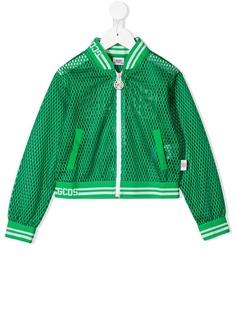 Gcds Kids куртка-бомбер на молнии с перфорацией