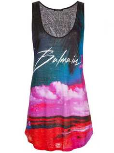 Balmain tropical print long vest