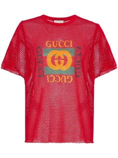 Gucci футболка с принтом логотипа