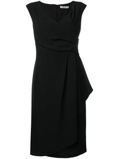 Blumarine платье миди с драпировкой