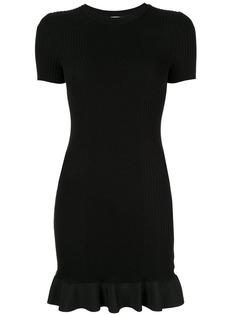 Alexander Wang короткое платье в рубчик