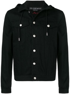 Alexander McQueen джинсовая куртка с капюшоном