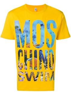 Moschino футболка с нашивкой-логотипом