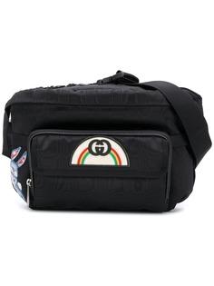 Gucci поясная сумка с нашивкой в стиле 80-х