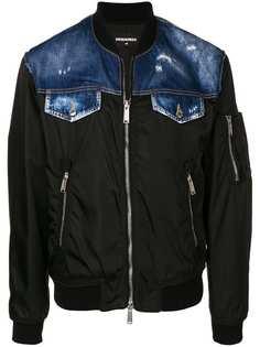 Dsquared2 джинсовая куртка-бомбер